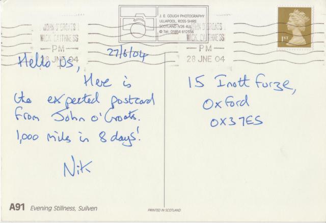 Arrivee Postcard