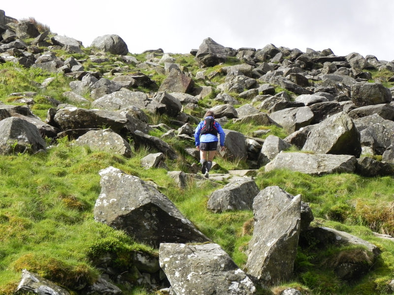 Boris heads for Tryfan